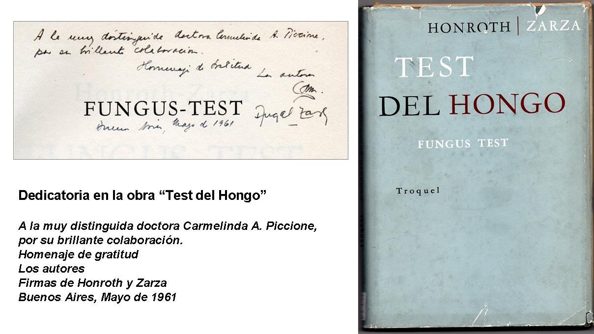 """""""Test del Hongo"""" con autógrafo de Honroth en la Biblioteca Ziliotto"""